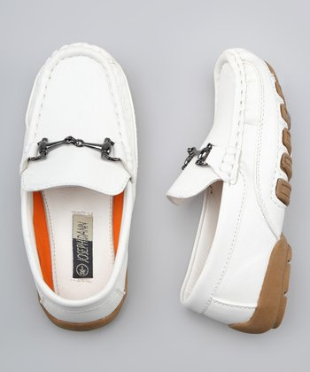 White Link Loafer