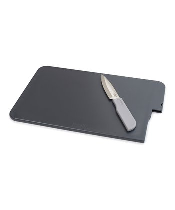 Joseph Joseph Gray Slice & Store Cutting Board & Knife