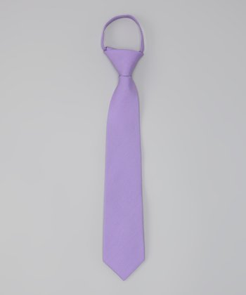 Lilac Ziano Zip-Up Tie