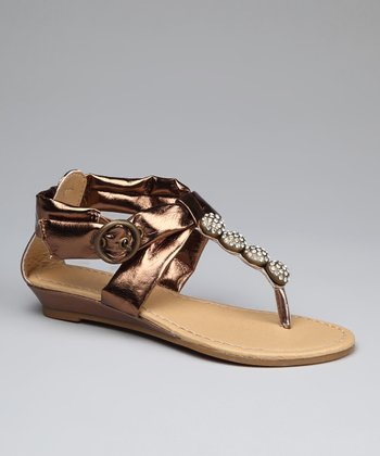 Bronze Four-Jewel Sandal