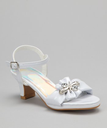 White Jewel Patent Sandal