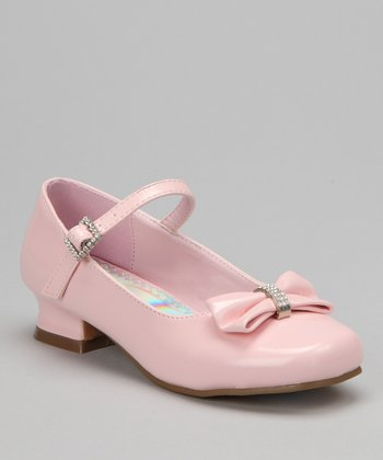 Light Pink Sparkle Bow Patent Mary Jane
