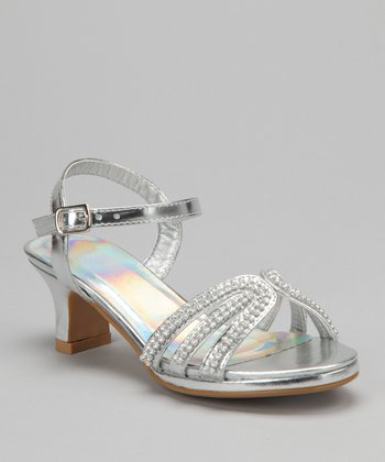 Silver Sparkle Sandal