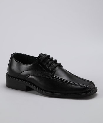 Black Stitched Shoe