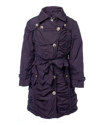 Blue & Black Red-Lined Bodain Jacket - Toddler & Girls