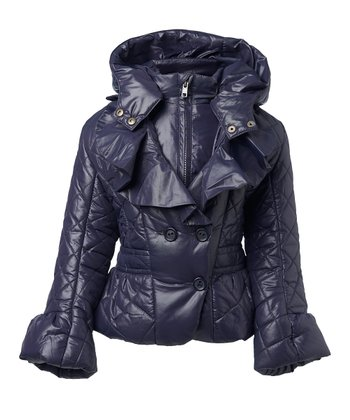 Dark Navy Belicia Jacket - Toddler & Girls