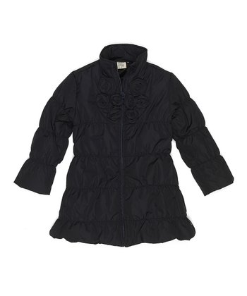 Dark Navy Bo Jacket - Toddler & Girls