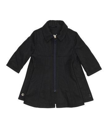 Dark Navy Wool Boya Coat - Infant, Toddler & Girls