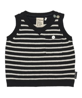 Dark Navy Spencer Vest - Infant
