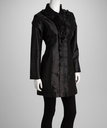 Black Pleated Jacket - Women