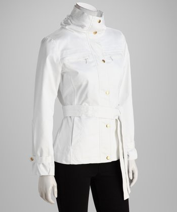 White Gold Button Jacket