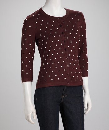 French Roast Polka Dot Cardigan