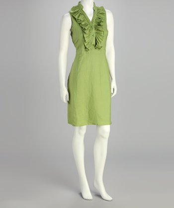 Celery Ruffle Dress - Women