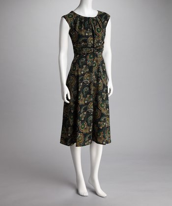 Loden Paisley Dress