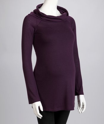 Plum Maternity Cowl Neck Sweater