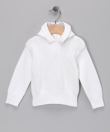 Julius Berger White Diamond Zipper-Back Hoodie - Infant