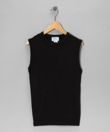 Black Knit Top - Girls