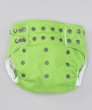 Froggy Green Leg-Gusset Pocket Diaper