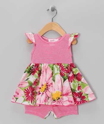 Pink Akela Skirted Romper - Infant