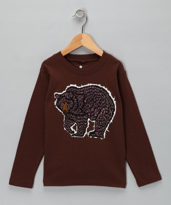 Chocolate Bear Long-Sleeve Tee - Kids
