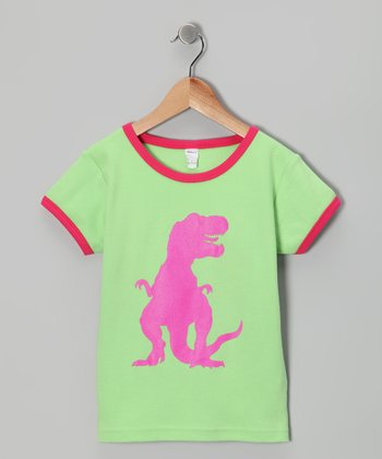 Lime & Fuchsia T-Rex Tee - Toddler & Girls