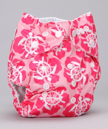 Honu Ke Aloha Single-Gusset Pocket Diaper