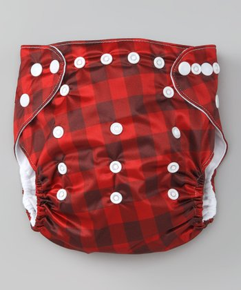 Cuddly Plaid Double-Gusset Pocket Diaper