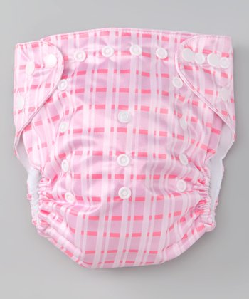 Plaid Single-Gusset Pocket Diaper