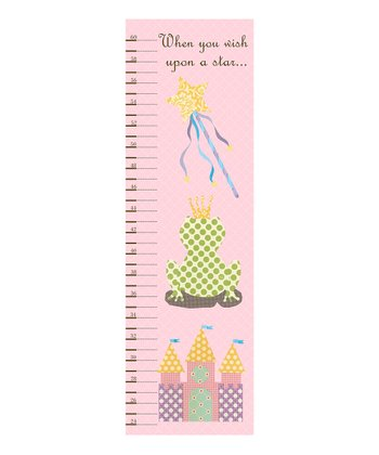 Just Bunch Designs Pink Fairy Princess Growth Chart