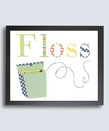 Just Bunch Designs Bathroom Manners 'Floss' Print