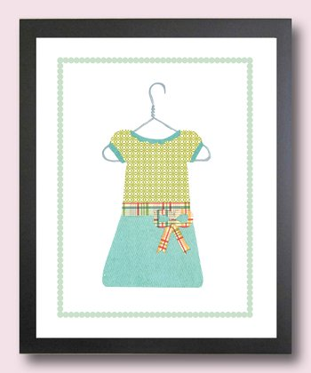 Blue & Green School Dress Print