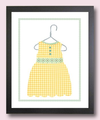 Yellow Summer Dress Print