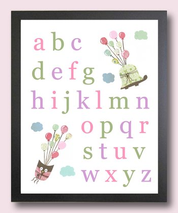 Pink I Can Fly Alphabet Print