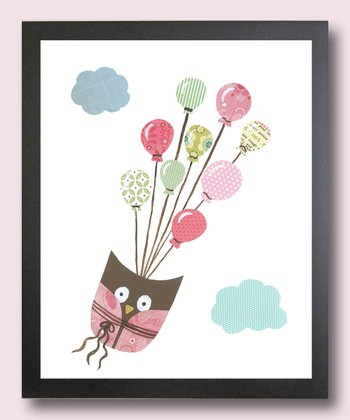 Pink I Can Fly Owl Print