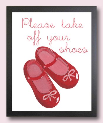 No Shoes Please Mary Jane Print