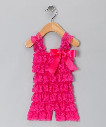 Watermelon Lace Romper - Infant & Toddler