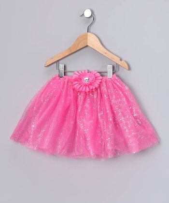 Bubble Gum Pink Glitter Daisy Tutu - Toddler & Girls