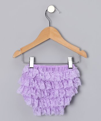 Lavender Lace Ruffle Diaper Cover - Infant