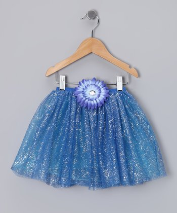 Royal Blue Glitter Daisy Tutu - Toddler & Girls
