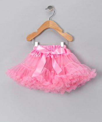 Light Pink Bow Pettiskirt - Infant, Toddler & Girls