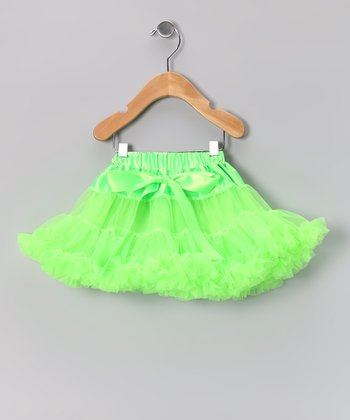 Lime Green Bow Pettiskirt - Infant, Toddler & Girls