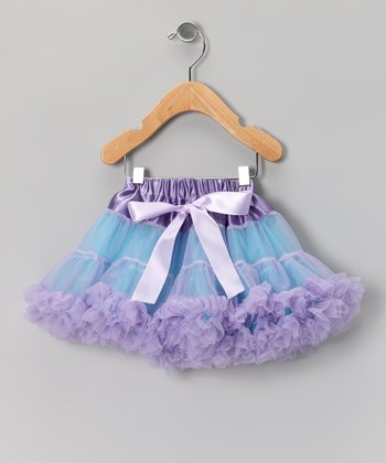 Turquoise & Lavender Bow Pettiskirt - Infant, Toddler & Girls