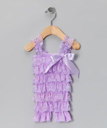 Lavender Lace Ruffle Romper - Infant & Toddler