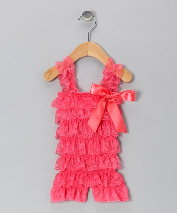 Strawberry Lace Romper - Infant & Toddler