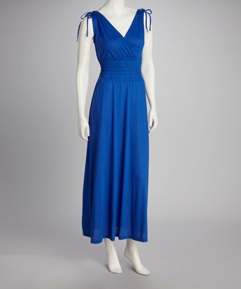 Royal Smocked Maxi Dress