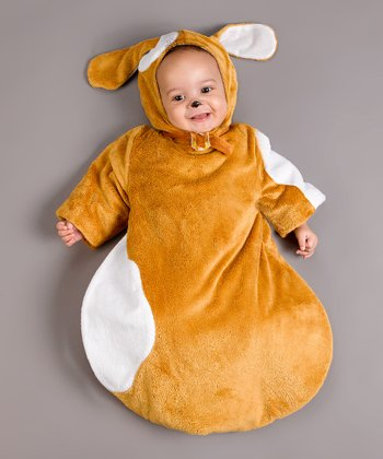 Tan & White Puppy Dress-Up Outfit - Infant