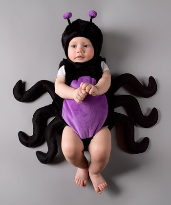 Black & Purple Spider Bubble Dress-Up Set - Infant