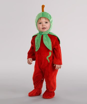 Red & Green Apple Dress-Up Set - Infant
