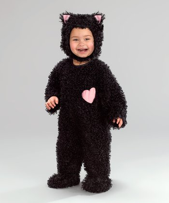 Black & Pink Heart Kitten Dress-Up Outfit - Infant