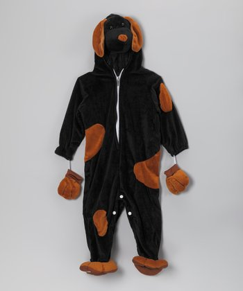 Black & Tan Spot Puppy Dress-Up Outfit - Toddler